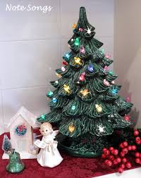 Decorate Christmas Tree Song by Note Songs Vintage Ceramic Tree
