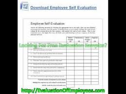 free employee evaluation forms youtube