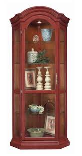 Amish Estate Corner Curio Cabinet Display Cabinets Woodwork And
