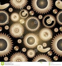 seamless background pattern the steampunk style stock