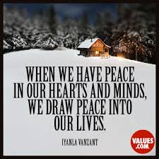 Iyanla Vanzant Quotes On Love by When We Have Peace In Our Hearts And Minds We Draw Peace Into Our