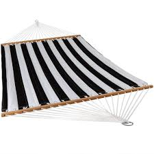 sunnydaze 2 person quilted hammock w spreader bars