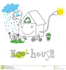 eco house drawing stock photography image 23059972
