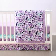 Teal And Purple Crib Bedding Zoe Crib Bedding Set
