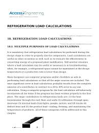 refrigeration load calculations thermal conductivity refrigerator