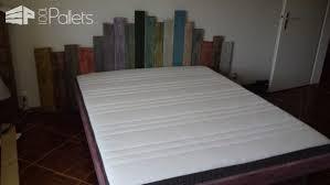 Headboards Bed Frames Garden Inspired Pallet Headboard Bed Frame Lit Et Tête De Lit