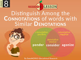 Neutral Connotation Distinguish Among The Connotations Of Words With Similar