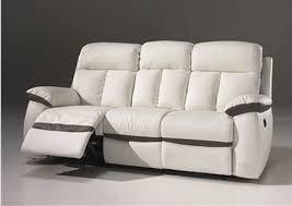 canap relaxation 3 places canapé 2 places 3 places relax électrique en cuir blanc