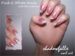 pink and white nails by shadowfallx on deviantart