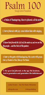 infographic psalm 100 give thanksgiving to god