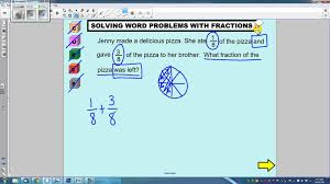solving multi step fraction word problems 1 youtube