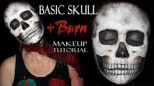 Halloween Skull Makeup Tutorial Basic Realistic Skull Makeup Tutorial Burn Makeup Youtube