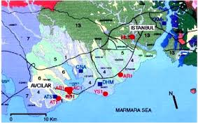 Istanbul Turkey Map Site Effects In Avcilar West Of Istanbul Turkey From Strong