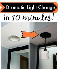 Recessed Lights In Kitchen 5 Minute Light Upgrade Converting A Recessed Light To A Pendant