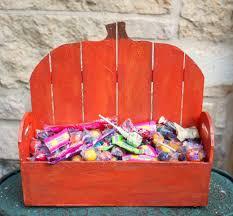 halloween baskets make a wood pumpkin basket for fall