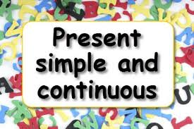present simple and present continuous learnenglish kids