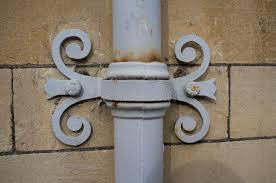 ornamental cast iron downpipe stock photo image 51045425