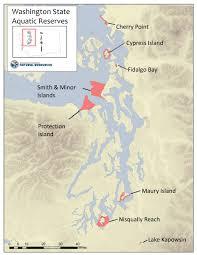 Google Maps Washington State by Aquatic Reserves Wa Dnr