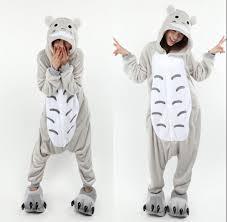 Totoro Halloween Costume Gray Kigurumi Totoro Pajamas Animal Suits Cosplay Halloween