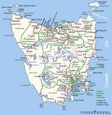 map of tasmania australia map of tasmania at wottodo au