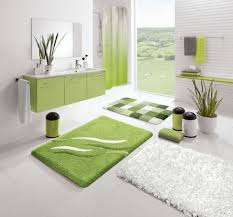 bathroom cheap ideas decorate small gorgeous green and white themed small bathroom decoration corner shower fur rug