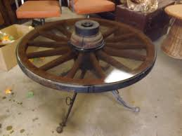 wagon wheel furniture is always fun and is a conversation piece