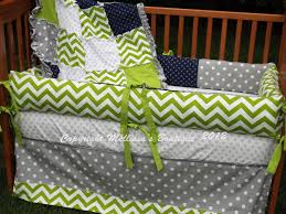 Grey And Green Crib Bedding Lime Green Nursery Bedding Thenurseries