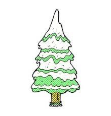 comic cartoon winter tree on fire royalty free vector image