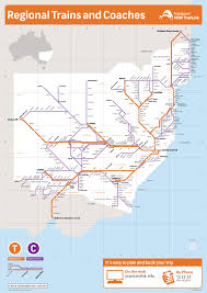 Spain Train Map by New South Wales Train And Coach Network Map