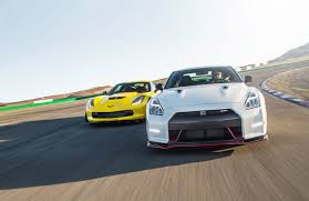 nissan corvette motor trend pits corvette z06 against 2015 nissan gt r nismo 95