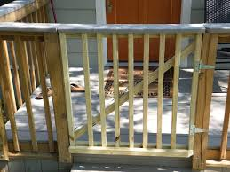 spring loaded gate added to existing front porch deck yelp