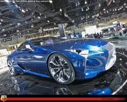 lexus lf lc blue la auto show exclusive shots from the floor first shots of
