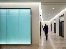 mcla rethinks the elevator bay for an office lobby in washington