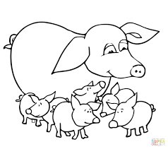 pigs coloring sheets baby mother pages 3