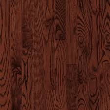 bruce bayport oak cherry 3 4 in x 2 1 4 in wide x varying