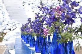 blue and purple wedding diy santorini wedding decor in blue purple tie the knot in