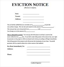 eviction notice form eviction notice form 30 day notice to vacate