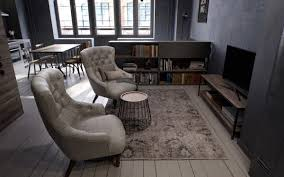 Grey Floor Living Room 3 Studio Apartments Under 50sqm For City Dwelling Couples