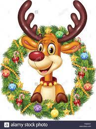 christmas wreath cartoon learntoride co