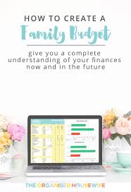 how to create a realistic household budget money matters how to create a family budget the organised housewife