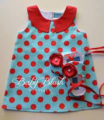 blue red floral retro a line dress shoes set infant baby