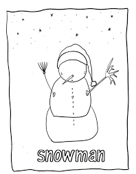 snowman winter coloring pages free winter coloring pages