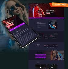 musically dj premium moto cms 3 template 65298