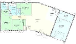 plan maison plain pied en l 4 chambres plan maison plain pied plan maison 5 chambres plain pied plan