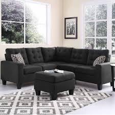 Sectional Gray Sofa Modern Grey Sectionals Allmodern