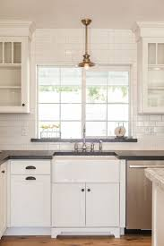 Backsplash With White Kitchen Cabinets - backsplash panels black granite kitchen glass tile grey