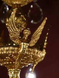 Ebay Chandelier Crystal Huge Eyecatcher Gold Bronze Spanish Chandelier Crystal Vintage