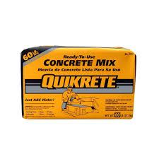 quikrete 60 lb concrete mix 110160 home depot