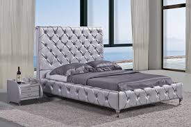 Tufted Bed Frame High Headboard Tufted Bed