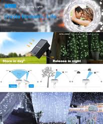 Starry String Lights On Copper Wire by Amazon Com Amir Solar Powered String Lights 200 Led Copper Wire